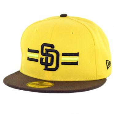 New Era 59Fifty San Diego Padres 2018 Players Weekend Fitted Hat Yellow Dark Brown