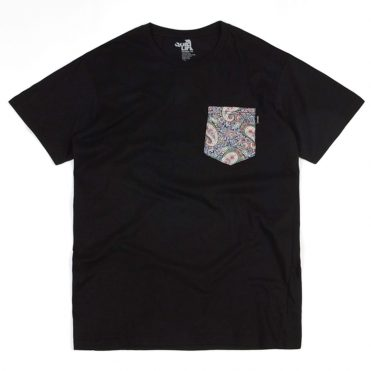 The Quiet Life Liberty Paisley Pocket T-Shirt Black