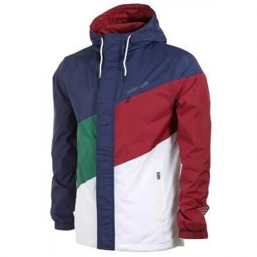 The Quiet Life Sierra Windbreaker Jacket Navy Hunter Green Burgundy