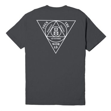 REBEL8 Anti-Order Short Sleeve T-Shirt Charcoal