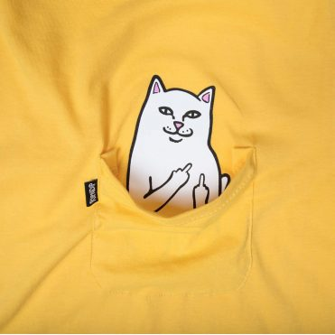 Rip N Dip Lord Nermal Pocket T-Shirt Yellow