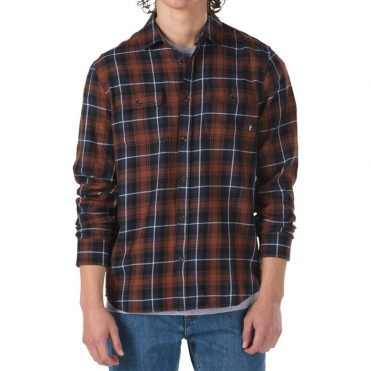 Vans Sycamore Flannel Long Sleeve Shirt Dress Blue Sequoia