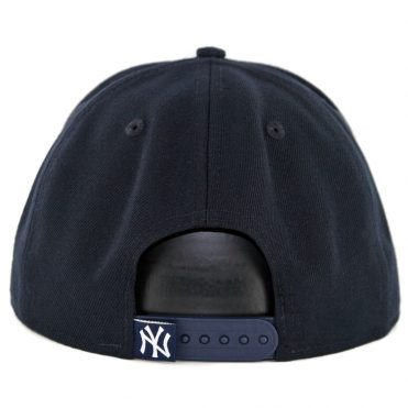 New Era 9Fifty New York Yankees Caps On Caps Snapback Hat Dark Navy