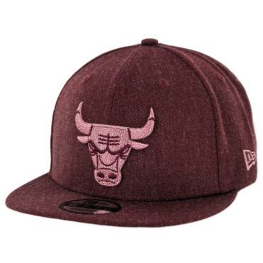 New Era 9Fifty Chicago Bulls Twisted Frame Snapback Hat Heather Cardinal