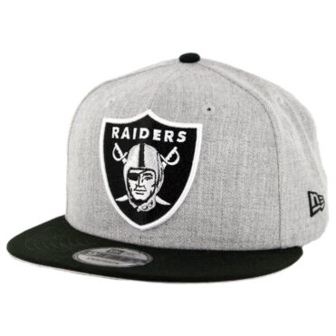 New Era 9Fifty CTO Oakland Raiders Snapback Hat Heather Grey Black