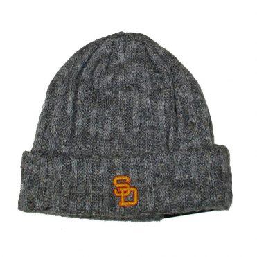 New Era San Diego Padres 1980-1984 Throwback Knit Beanie Grey