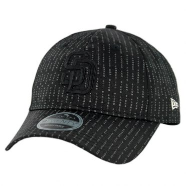 New Era 9Twenty San Diego Padres Suited Team Strapback Hat Black