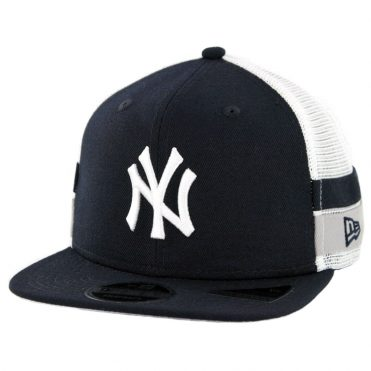 New Era 9Fifty New York Yankees Striped Side Lineup Snapback Hat Dark Navy