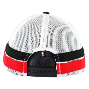 New Era 9Fifty Chicago Bulls Striped Side Lineup Snapback Hat Black