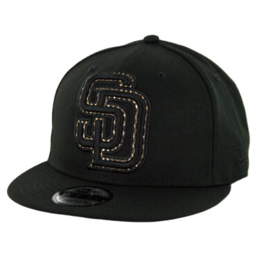 New Era 9Fifty San Diego Padres Shimmer Team Snapback Hat Black