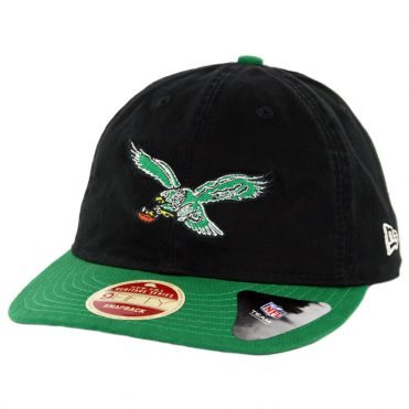 New Era 9Fifty Philadelphia Eagles Team Retro Two Tone Snapback Hat Black Kelly Green