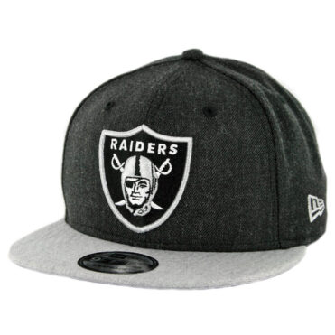 New Era 9Fifty CTO Oakland Raiders Snapback Hat Heather Black Heather Grey