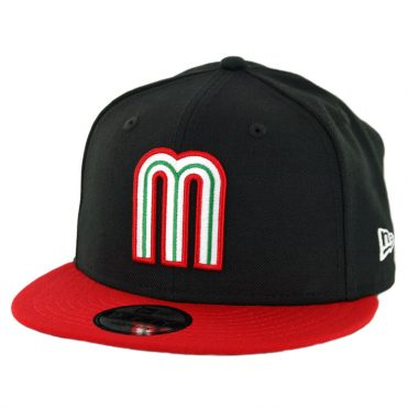 New Era 9Fifty Mexico World Baseball Classic Snapback Hat Black Red