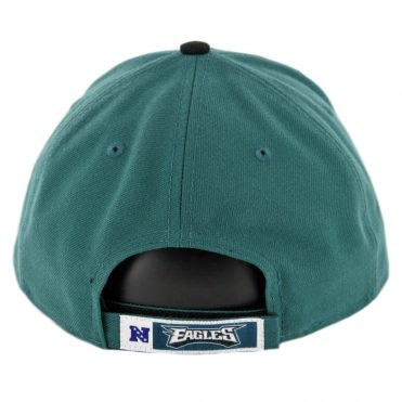 New Era 9Forty Philadelphia Eagles The League Strapback Hat Midnight Green Black