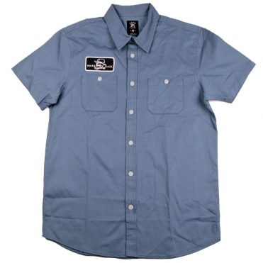Hard Luck Work Button Up Shirt Slate Blue