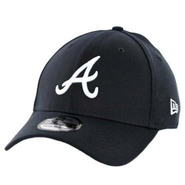 New Era 39Thirty Atlanta Braves Road Team Classic Stretch Fit Hat Dark Navy