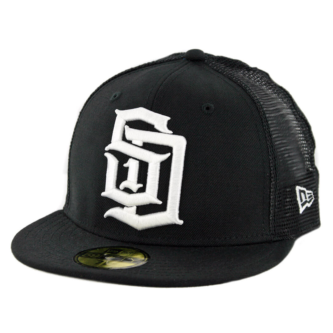 c4a75c5e7fbd2 New Era 59Fifty CTO Dyse One SD Trucker Fitted Hat Black White