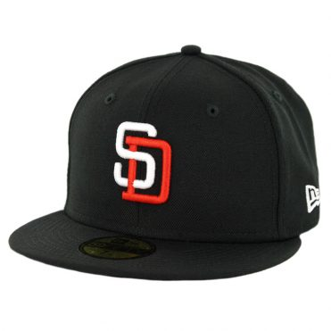 New Era 59Fifty CTO San Diego Padres 1998 Tony Gwynn Fitted Hat Black White Orange