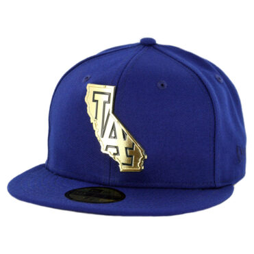 New Era 59Fifty Los Angeles Dodgers Gold Stated Fitted Hat Dark Royal