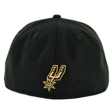 New Era 59Fifty San Antonio Spurs Gold Stated Fitted Hat Black