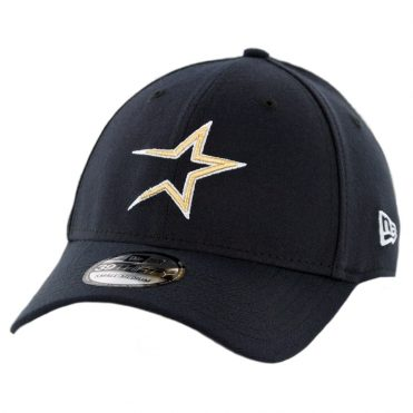 New Era 39Thirty Houston Astros Team Classic Cooperstown Stretch Fit Hat Dark Navy