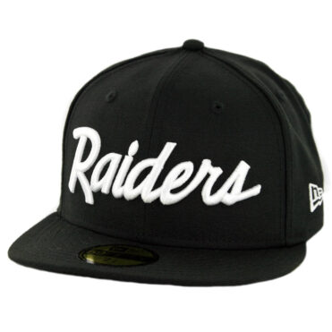 New Era 59Fifty CTO Oakland Raiders Script Fitted Hat Black White