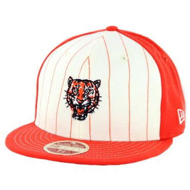 New Era 59Fifty Detroit Tigers 1957-1960 Vintage Stripe Cooperstown Fitted Hat Orange