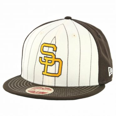 New Era 59Fifty San Diego Padres 1991 Vintage Stripe Cooperstown Fitted Hat Brown