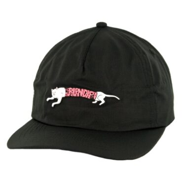 Rip N Dip Zipperface 6 Panel Snapback Hat Black