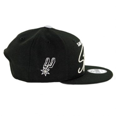 New Era 9Fifty San Antonio Spurs Scripted Turn Snapback Hat Black
