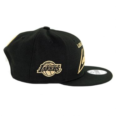 New Era 9Fifty Los Angeles Lakers Scripted Turn Snapback Hat Black