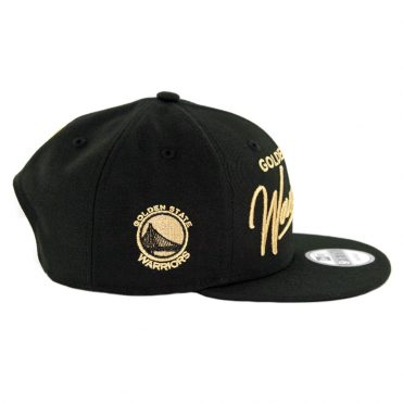 New Era 9Fifty Golden State Warriors Scripted Turn Snapback Hat Black
