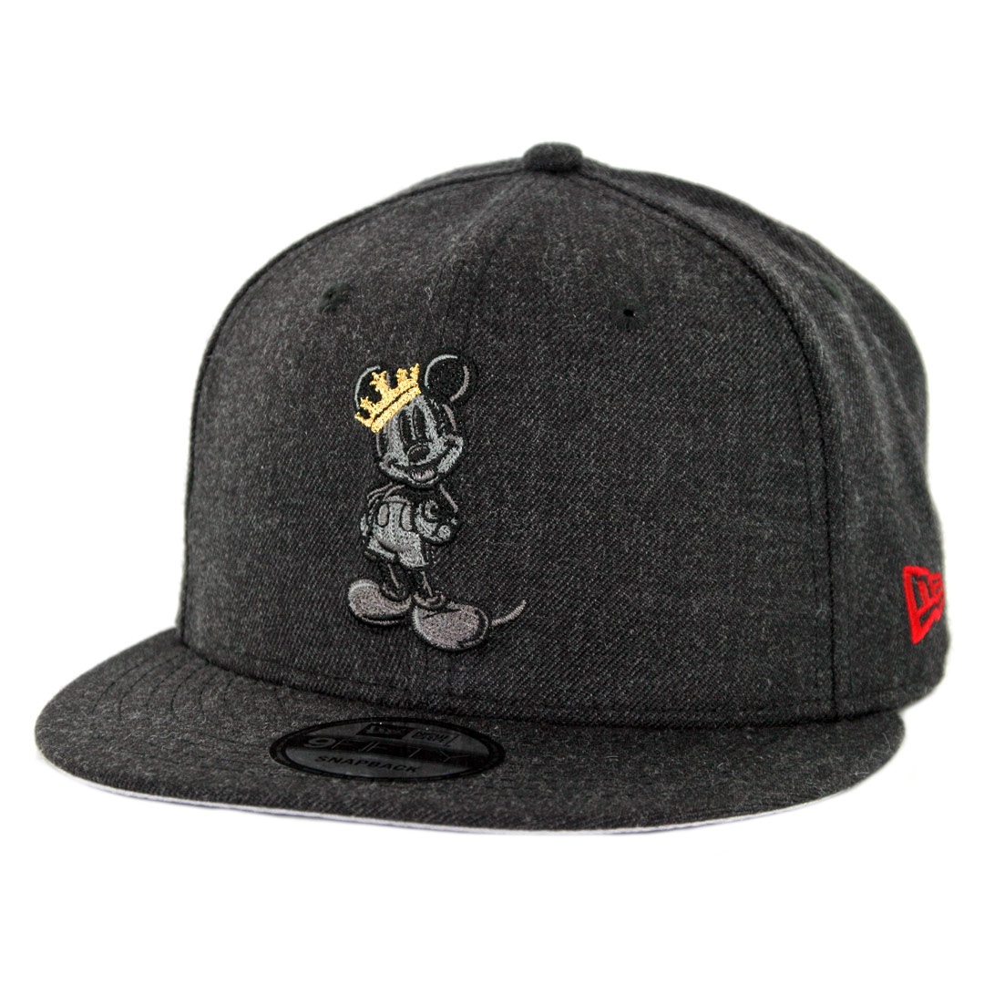 3f638768b68 New Era 9Fifty Mickey Mouse Heather Crisp 3 Snapback Hat Heather Black -  Billion Creation Streetwear