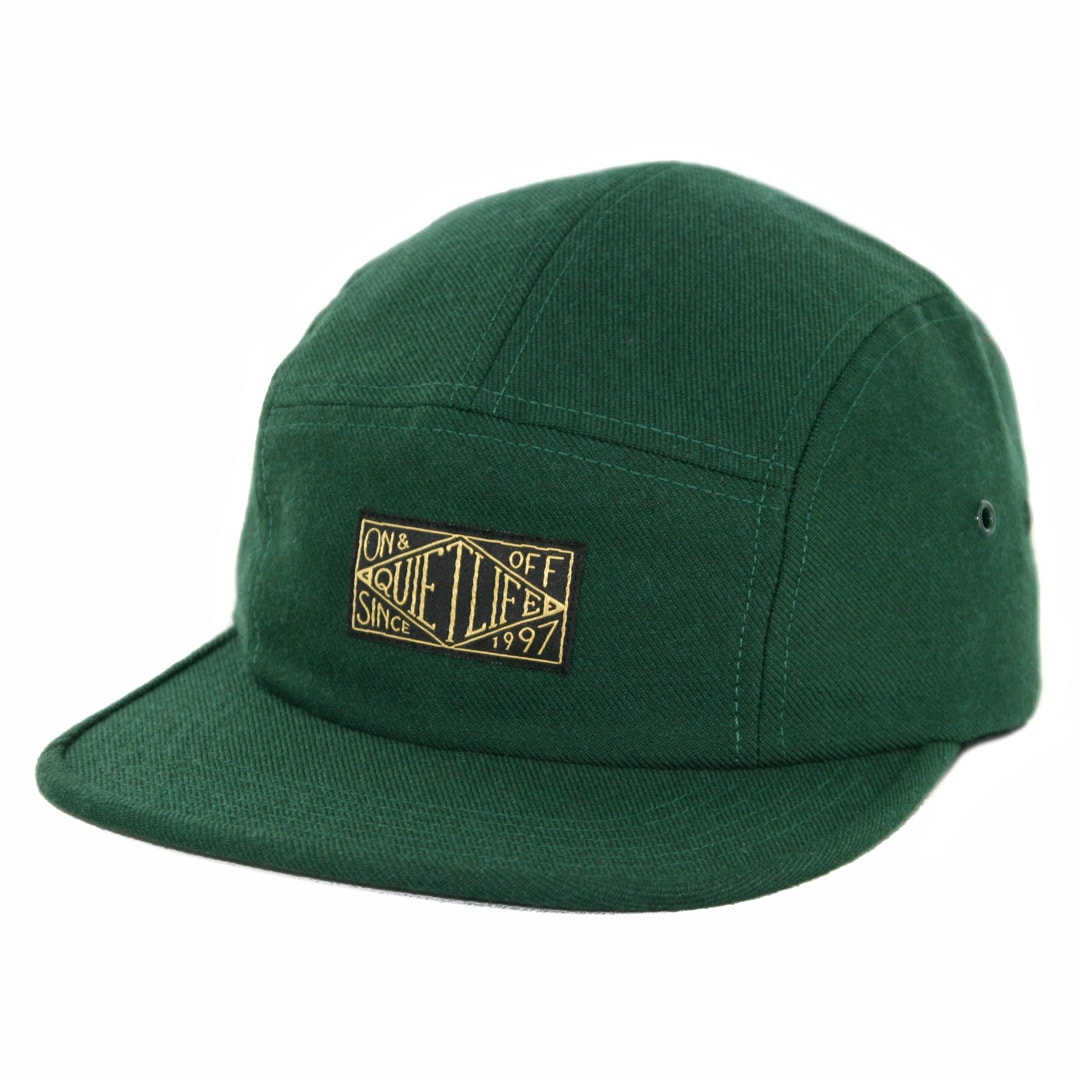 672a75e7e22 The Quiet Life Gold Label 5 Panel Clipback Hat Hunter Green - Billion  Creation Streetwear
