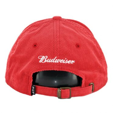HUF Bow 6 Panel Strapback Hat Red