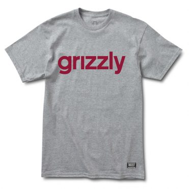 Grizzly Lowercase T-Shirt Heather Burgundy