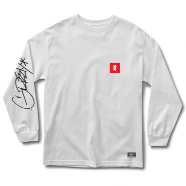 Grizzly Scrawl Long Sleeve T-Shirt White