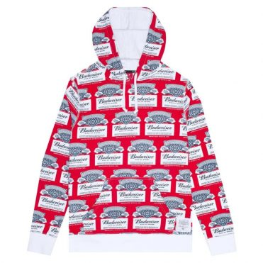 HUF Budweiser Label Pullover Hooded Sweatshirt Red