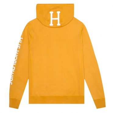 HUF Mission Pullover Hooded Sweatshirt Mineral Yellow