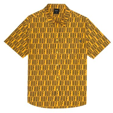 HUF Night Market Short Sleeve Button Up Shirt Mineral Yellow