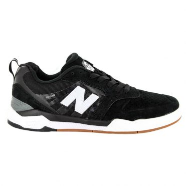 New Balance Numeric 868 Shoe Black White Pig Suede Mesh