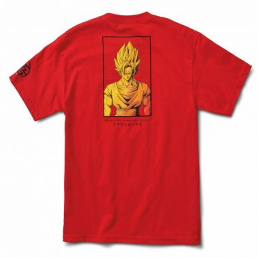 Primitive x Dragon Ball Z Goku Saiyan Style T-Shirt Red