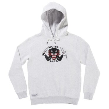 The Quiet Life Ben Venom Pullover Hooded Sweatshirt Ash
