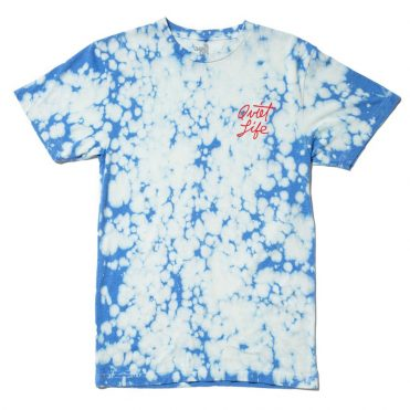 The Quiet Life Cursive Logo T-Shirt Blue Wash