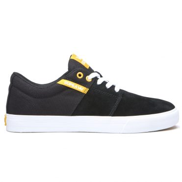 Supra Stacks Vulc II Shoe Black Golden White