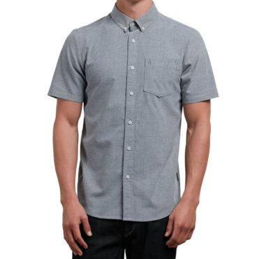 Volcom Everett Oxford Short Sleeve Shirt Black