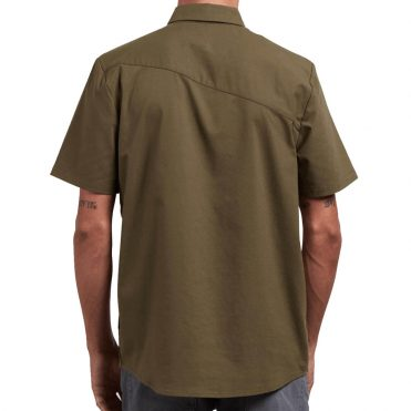 Volcom Everett Oxford Short Sleeve Shirt Military