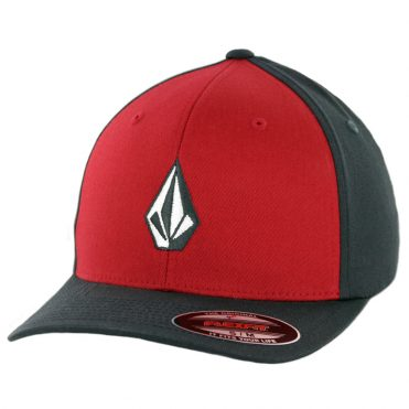 Volcom Full Stone Flexfit Hat Engine Red