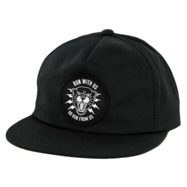 Sketchy Tank Panther Snapback Hat Black