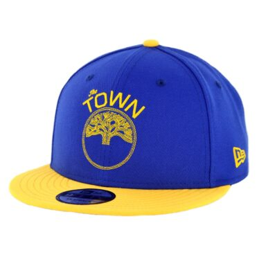 New Era 9Fifty Golden State Warriors The Town Snapback Hat Royal Blue Yellow